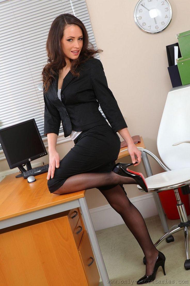 Black Skirt Suit Sheer Black Pantyhose And Black High