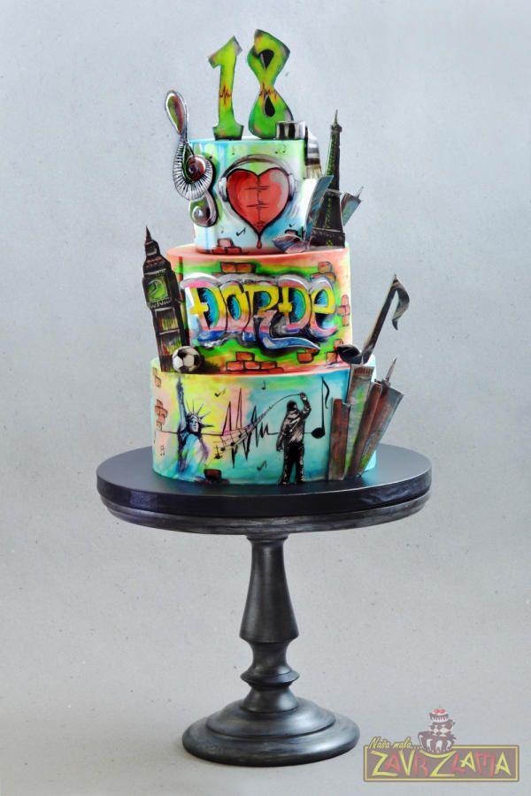 Graffiti Cake By Nasa Mala Zavrzlama Cakes Amp Cake