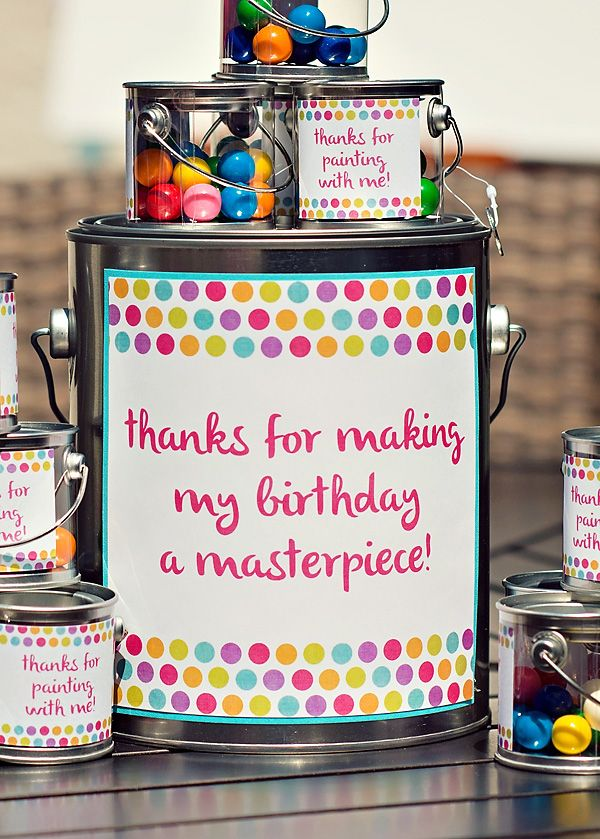 Polka Dot & Rainbow Paint Themed Birthday Party Amy Rossamando – this would be cute party favor for paint party