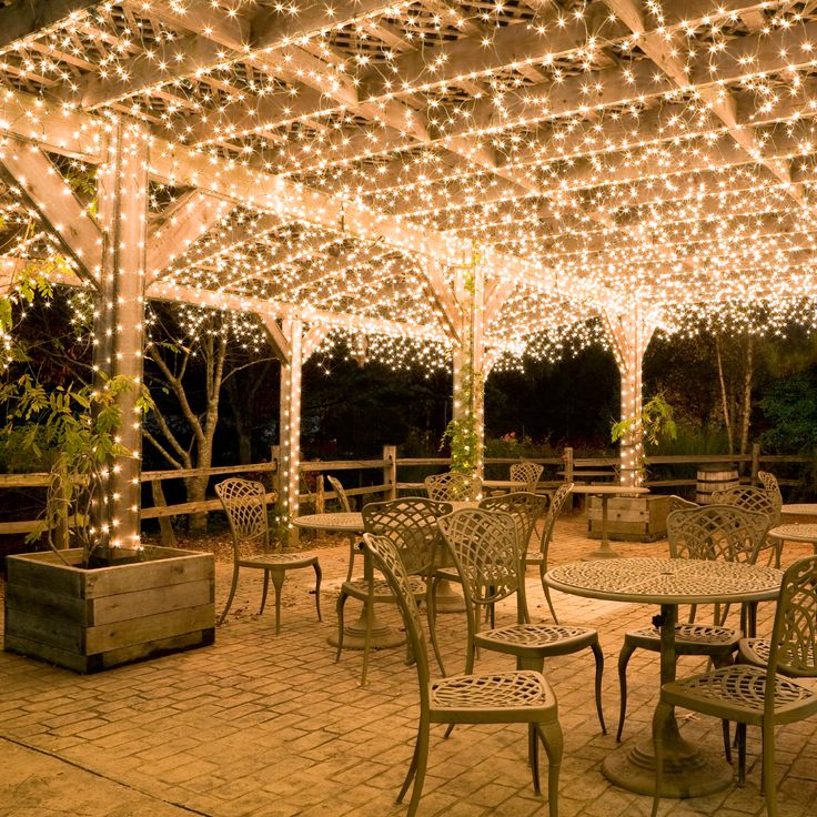 hang white icicle lights to create magical outdoor on awesome deck patio outdoor lighting ideas that lighten up your space id=50548
