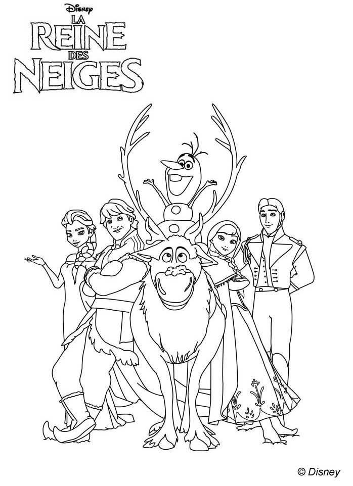 Coloriage Affiche La Reine Des Neiges Disneys Frozen