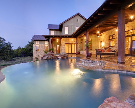 Architecture Awesome Infinity Pool Design Hill Country