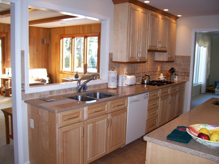 17 Best images about White Appliance   Maple cabinets ... on Maple Cabinets White Countertops  id=30480