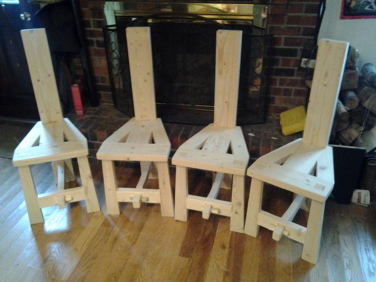 A Set Of Irish Tuam Chairs They Peg Together Using Tusk