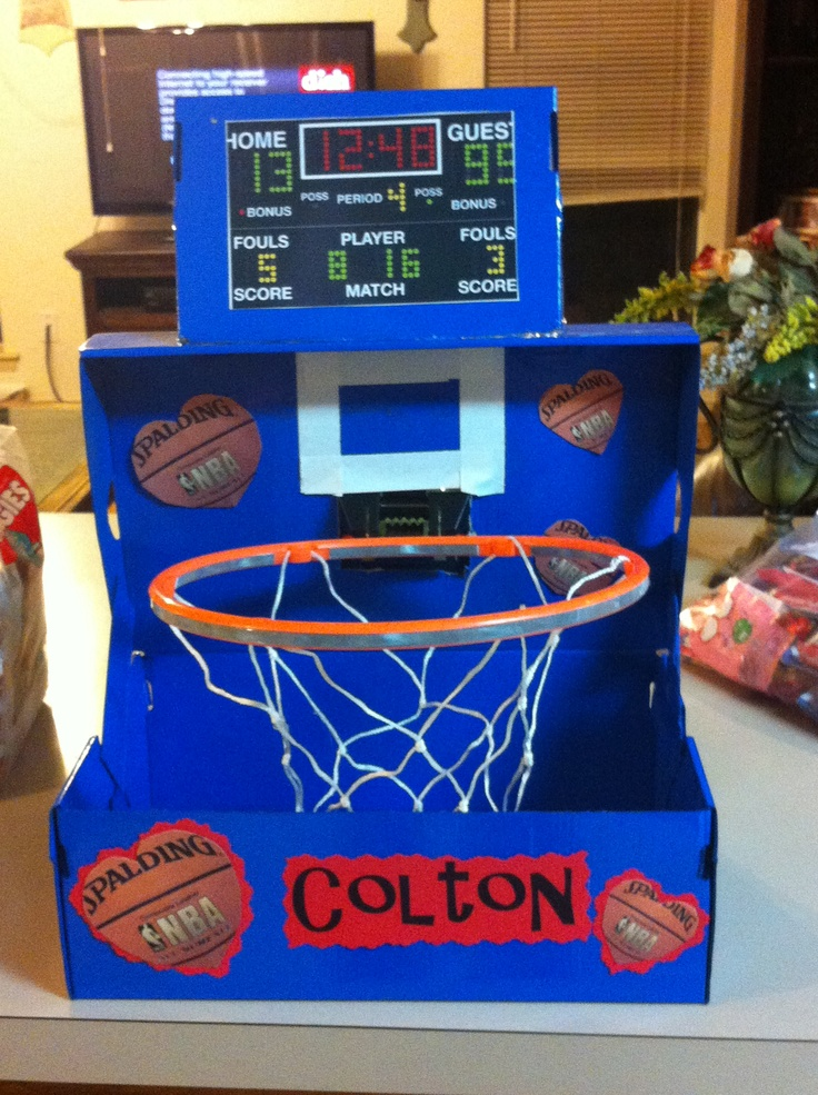 Crazy About Basketball Valentines Box Valentines Pinterest About Basketball