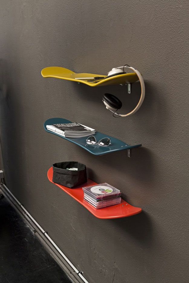 Cool And Diy Organization Ideas For Age Boys Bedroom Skateboard Shelves By Ready At