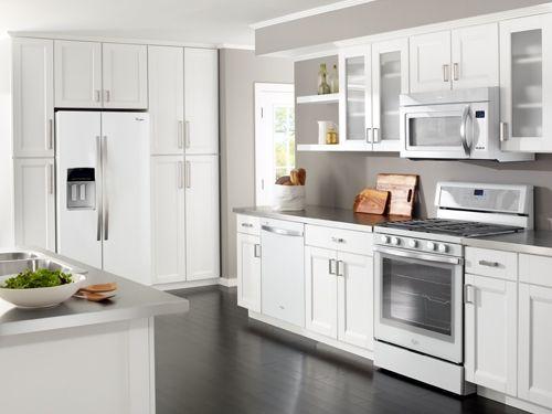 White Glass Whirlpool Appliances
