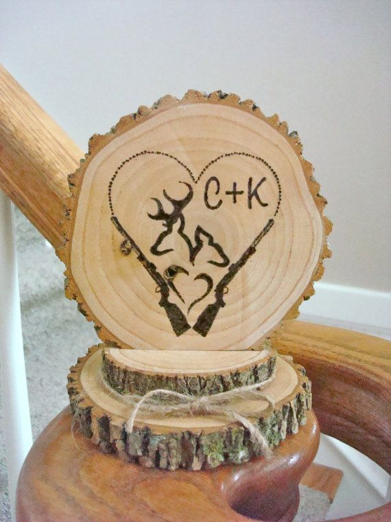 Rustic Wedding Cake Topper Personalized Wood by SweetHomeWoods