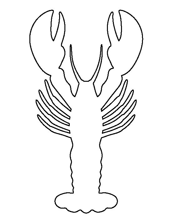 Lobster Pattern Use The Printable Outline For Crafts