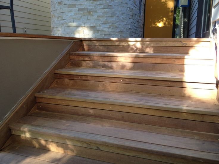 Ipe Deck Stair Risers And Side Skirt Are 5 4 Ipe Siding