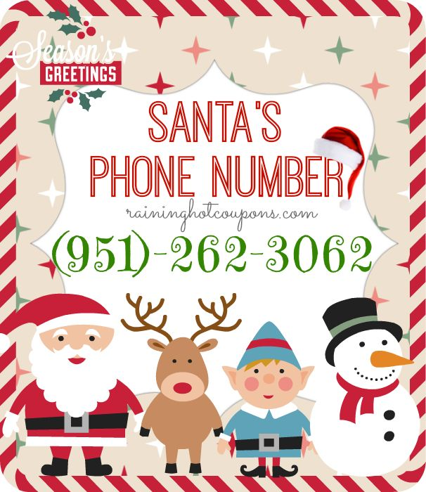 Santas Phone Number! (Call Santa)