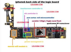 iPhone 6 Full PCB cellphone Diagram Mother Board Layout | Download free ebooks for apple iphone