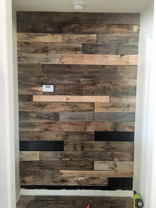 How To Install A Pallet Wall The Easy Way On The Side