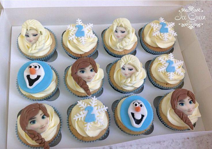 Frozen Elsa Anna Olaf Cupcakes Olaf Cup Cakes