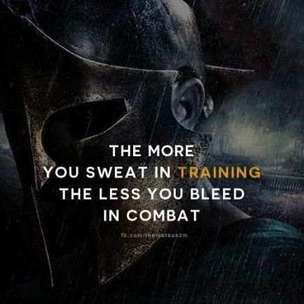 Semakin banyak keringat saat latian, semakin sedikit kamu berdarah pada pertandingan