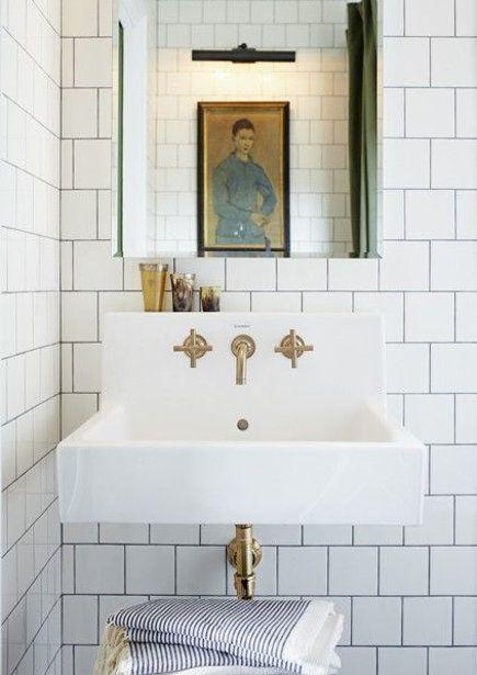 Brass Bathroom Fixtures Mandy Milks Master Bath With Duravit Sink And Kohler Purist Brushed