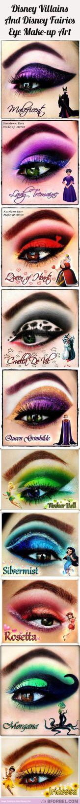 10 Disney Villains And Fairies Inspired Beautiful Eye Makeup...: