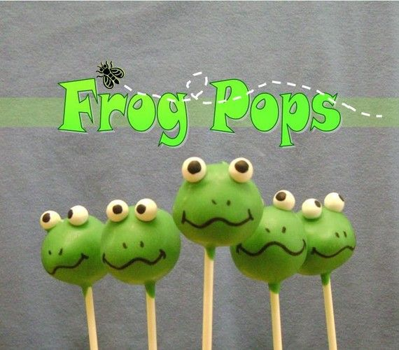 Frog Pops – though I have found myself to NOT be a fan of cake pops, I had to pin based on the frog-factor alone!