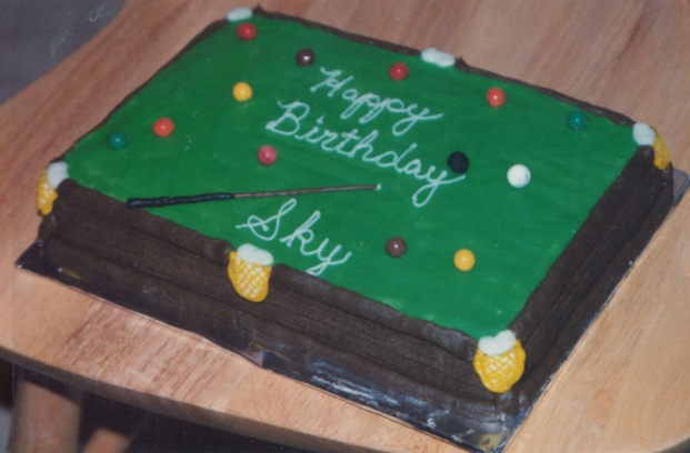 Pool Table Birthday Cake Cakes By Me Pinterest
