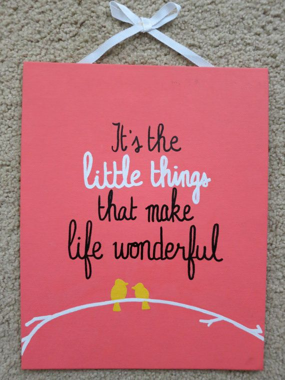 It's the Little Things 8×10 canvas by annielayer on Etsy, $18.00