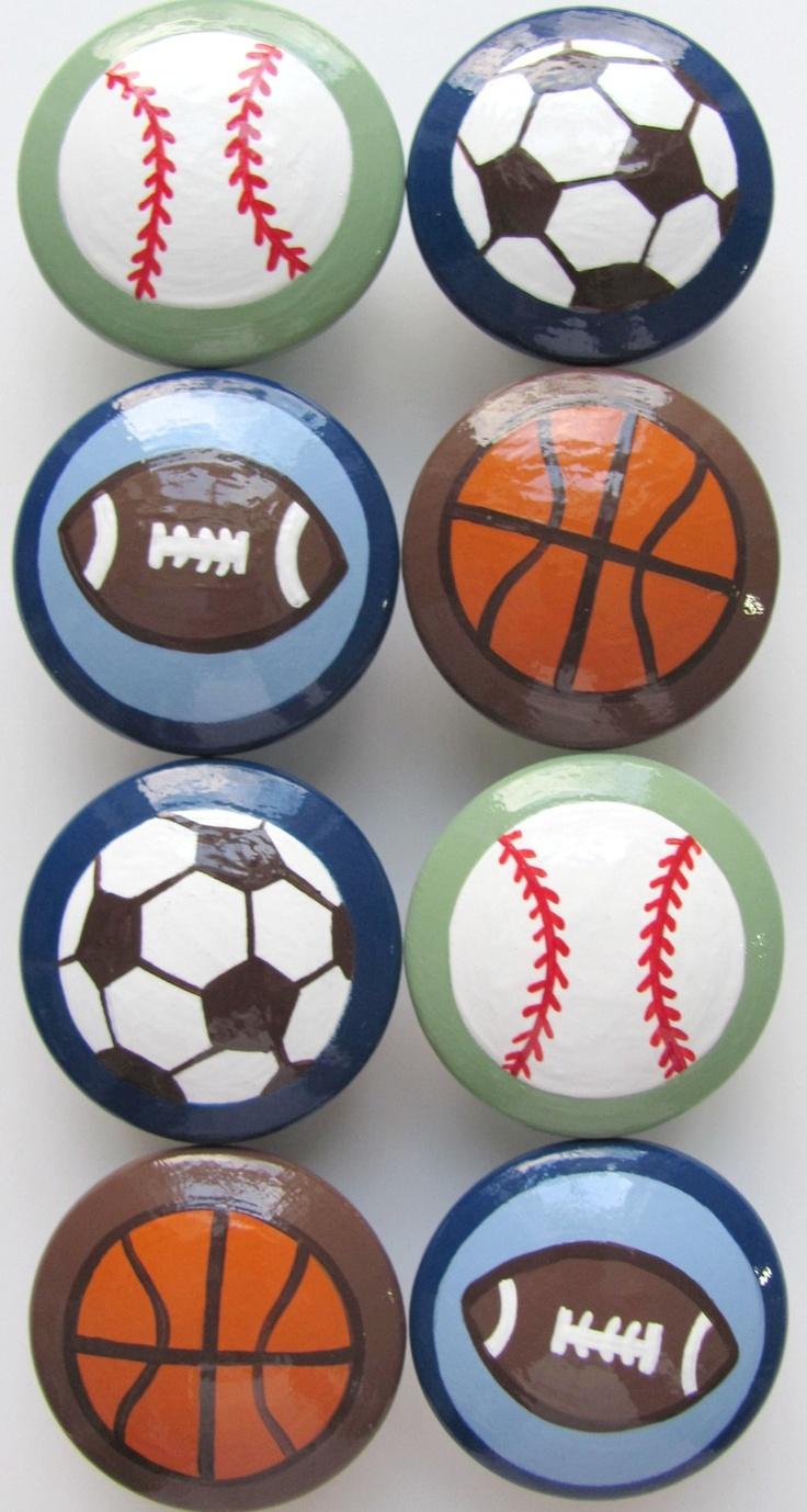 Boy S Sports Knobs Soccer Football Baseball Basketball