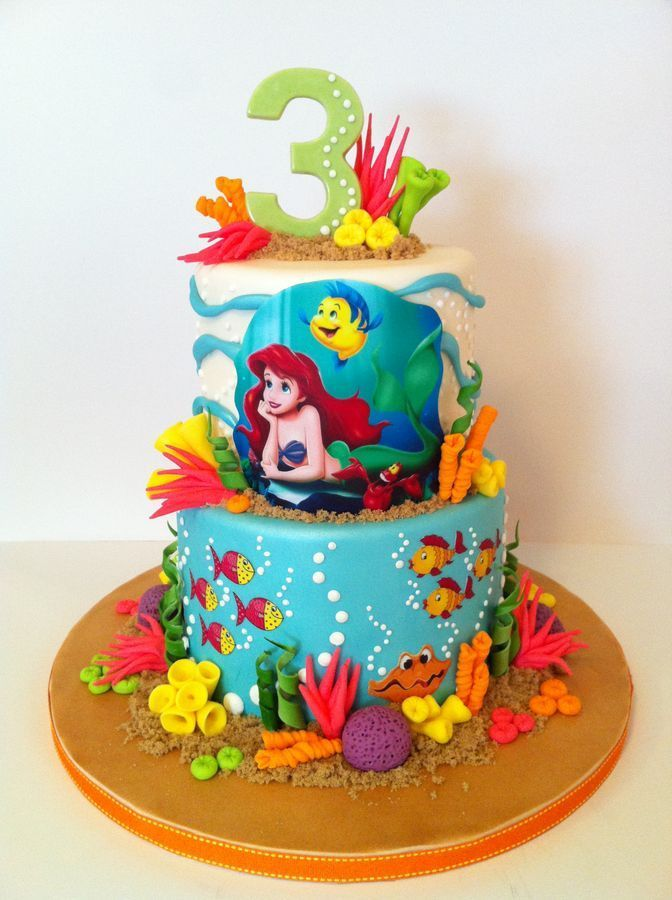 Ariel Coming Out Of Water Cake Google Search Sophies