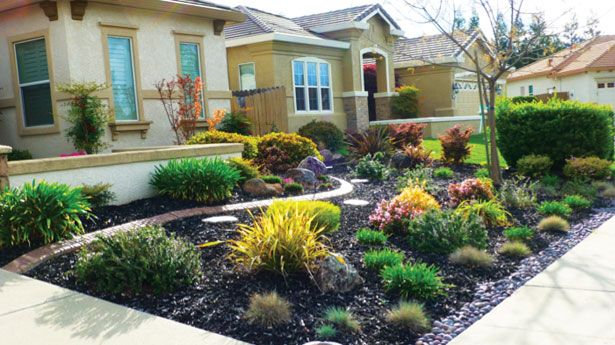 landscaping ideas for front yards without grass | Yards ... on Backyard Landscaping Ideas No Grass  id=91666