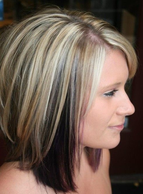 The medium and lovely shoulder length straight cut is created sleek and slicked down. The various layers make the whole style look more voluminous and full of life. The stunning style is excellent for people who are looking for a smashing and cool hairstyle with a deep side part. The chic medium textured straight style …: