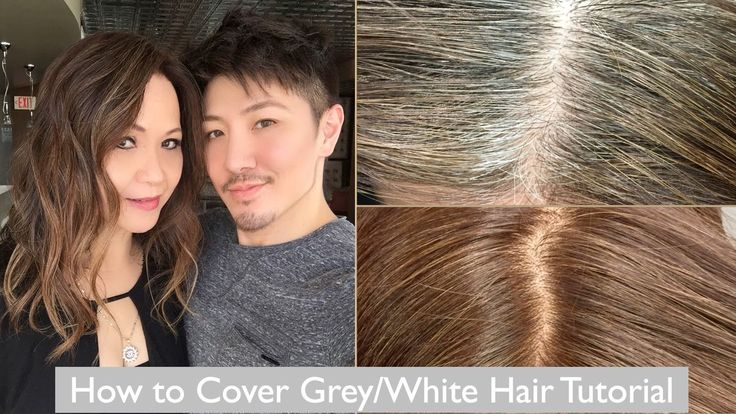 How To Cover GreyWhite Hair Tutorial With My Mom