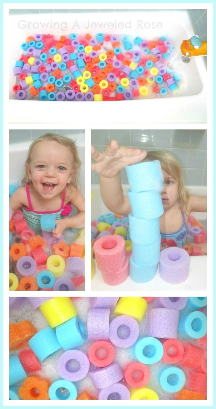 Swim in OODLES of noodles with a Pool Noodle Bath Pit! Simple amp; frugal fun th