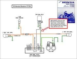 1988 honda shadow vt1100 turning signal wiring diagram