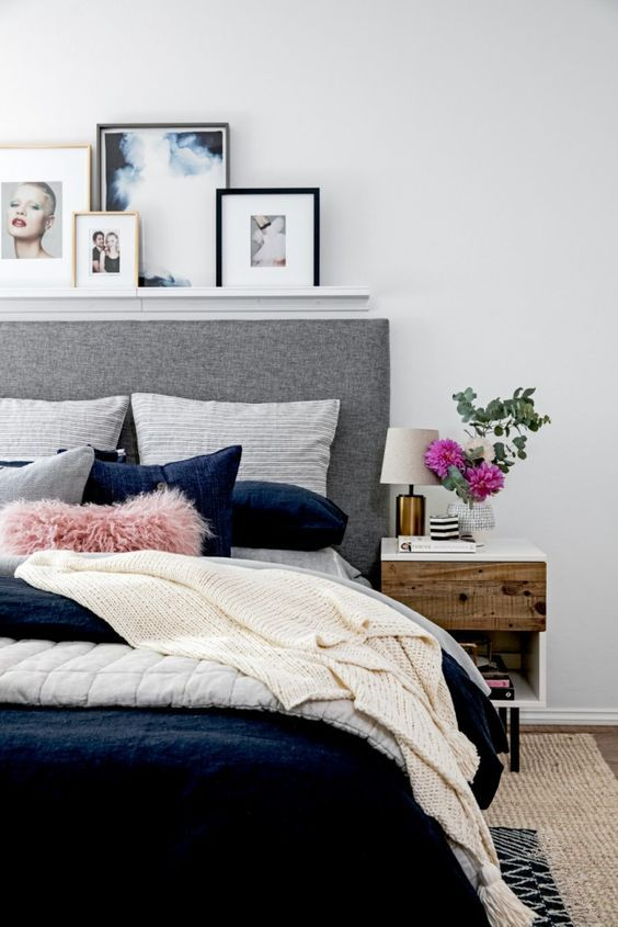 17 Ideas About Shelf Above Bed On Pinterest White