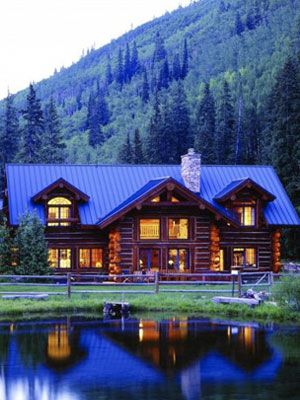 Beautiful cabin in the Colorado mountains…..if this were smaller it would be t