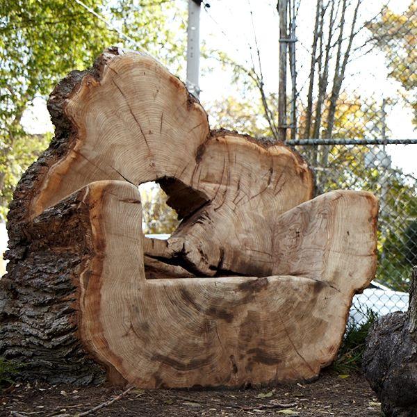 Log Carved Arm Chair Log Cabin Ideas Pinterest