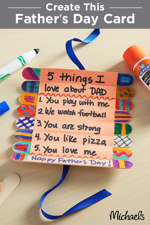 Show off what you love about Dad this Father's Day with a Craft Stick Roll-Up Card. This simple project is perfect for small