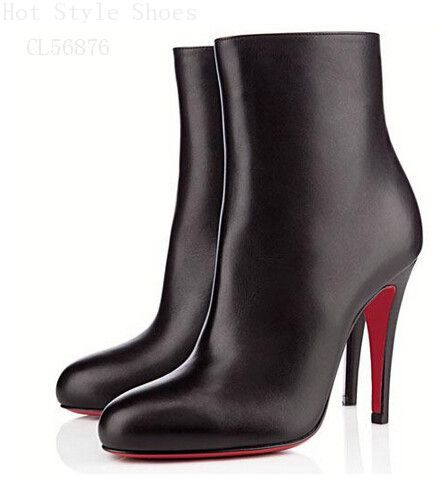 Christian Louboutin Bello 100mm Ankle Boots Black CVG Is Favored By Huge Number Of Customers Around The World!