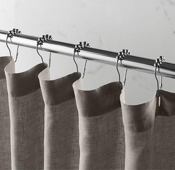 Stonewashed Belgian Linen Shower Curtain Cotton Amp Linen Shower Curtains Restoration Hardware