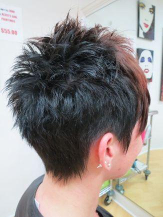 short hair back:
