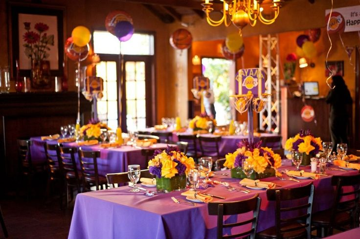 Lakers Theme Party Daddy S 25th Birthday Pinterest