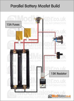 Parallel Battery Mosfet Wiring Diagram | BOX MOD schematy