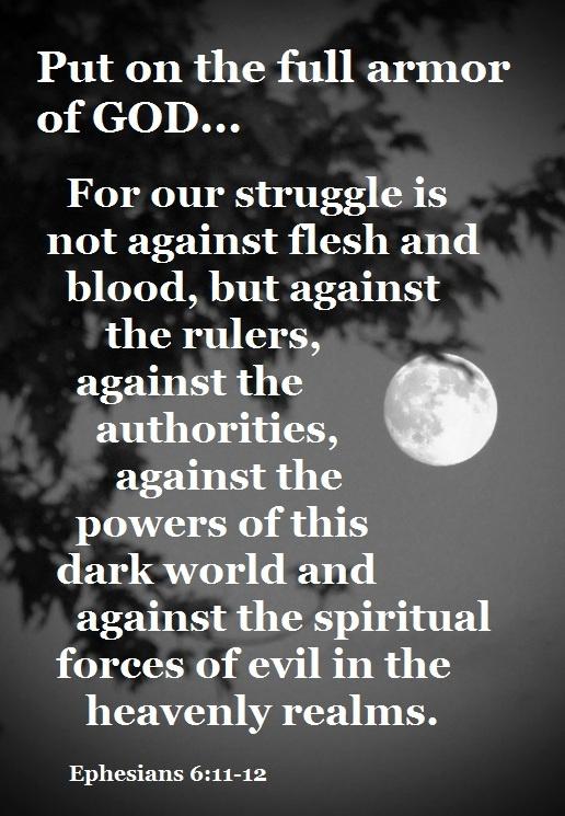 Ephesians 6:11-12. Image via Pinterest.