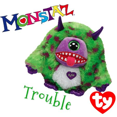 Trouble The Purple And Green Monstaz Beanie From Ty