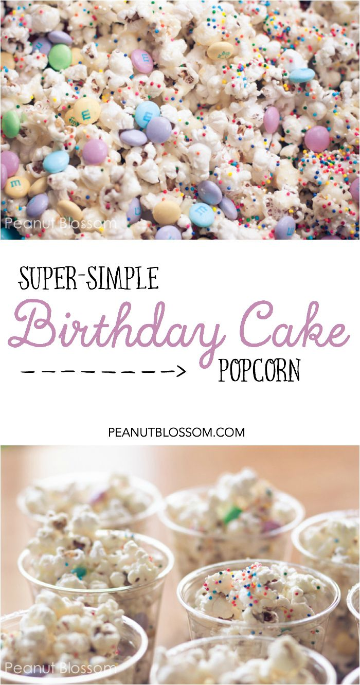 No cupcake rule at school? No problem! Try this birthday cake flavored popcorn treat for a unique school party snack. Totally