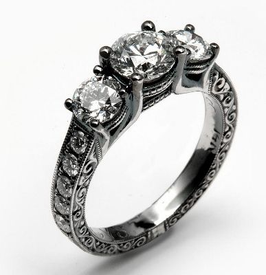 17 Best Ideas About Gothic Engagement Ring On Pinterest Black