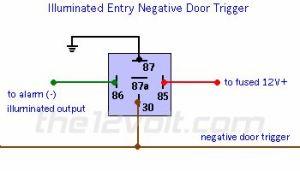 wire diagram negative door trigger relay with fade