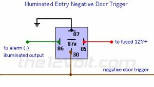 wire diagram negative door trigger relay with fade |  negative door triggers, the output is