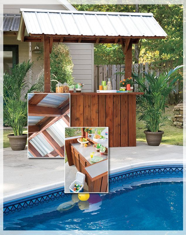 How To Build A Portable Tiki Bar - WoodWorking Projects ... on Backyard Tiki Bar For Sale id=79515