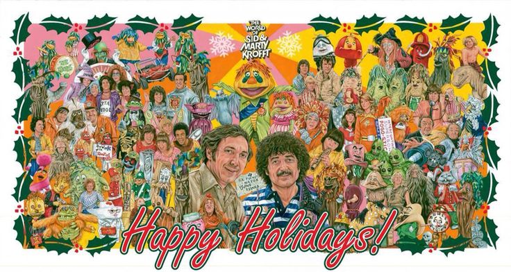 1970s Krofft Christmas Card The World Of Sid Amp Marty