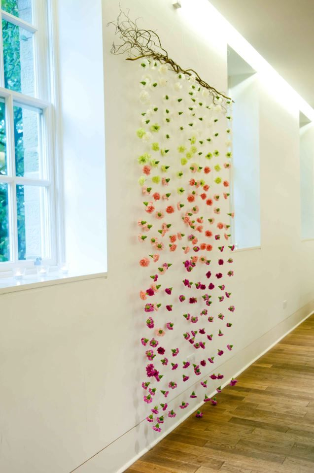 Flower Curtain By Leafy Couture Wedding Flowers Look Up