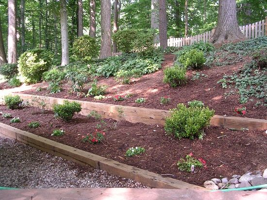 diy retaining wall build a wooden retaining wall natural on classy backyard design ideas may be you never think id=86695